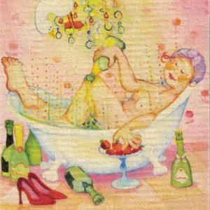 Disktrasa med motiv av Bubbelbad Birgitta Lindeblad