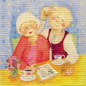 Disktrasa med motiv av frukostflätan Birgitta Lindeblad