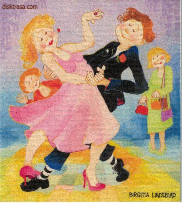 Disktrasa med motiv av Lets Dance Birgitta Lindeblad