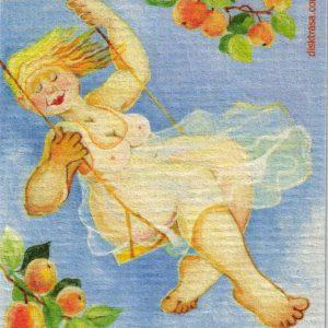 Disktrasa med motiv av Gunga Birgitta Lindeblad