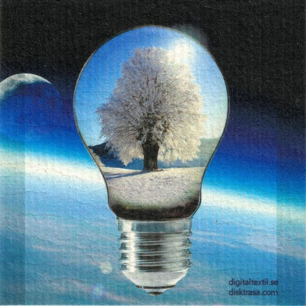 Disktrasa med motiv av glödlampe Kjell Mari Ekvall