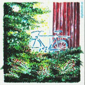 Disktrasa med motiv av Cykeln Gösta Linderholm