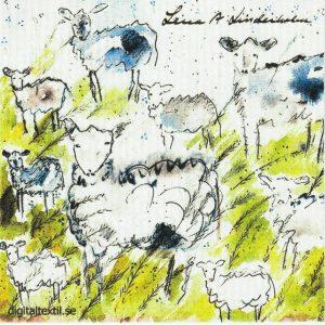 Disktrasa med motiv av Klockklang i provence Lena Linderholm