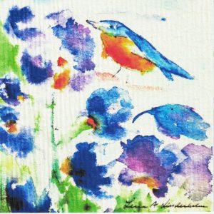Disktrasa med motiv av pippi blått Lena Linderholm