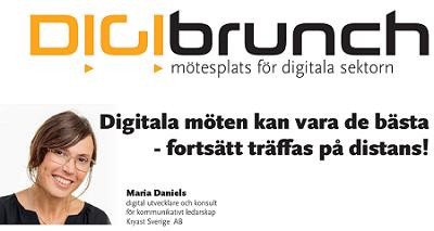 Digibrunch – 22 september Digitala möten – fortsätt träffas på distans