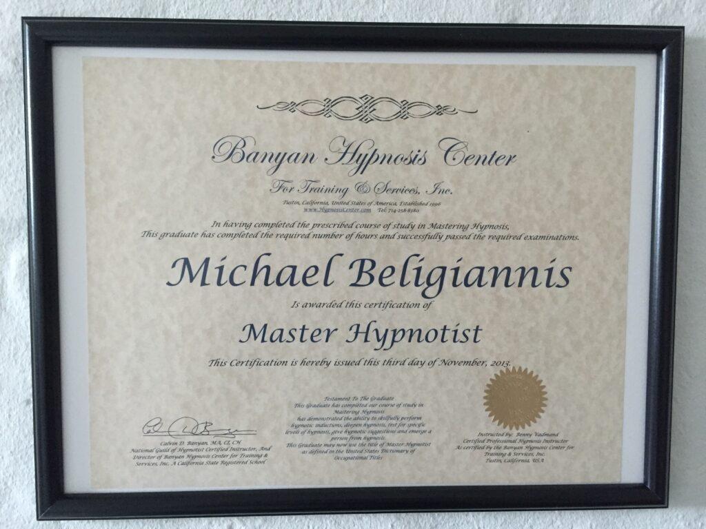 Master Hypnotisør Michael Beligiannis