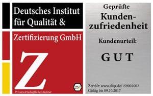 Deutsches Institut für Qualität & Zertifizierung GmbH - DIQZ-Prüfzeichen