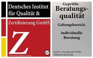DIQZ-Prüfzeichen Zertifizierung Beratungsqualität