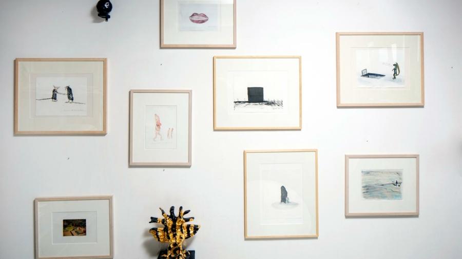 Untitled schets prototype2:  Walchenbach gallerie Aquarel,gouache