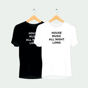 House Music All Night Long Rave T-Shirt