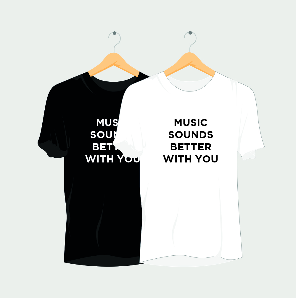Music Sounds Better With You Rave T-Shirt