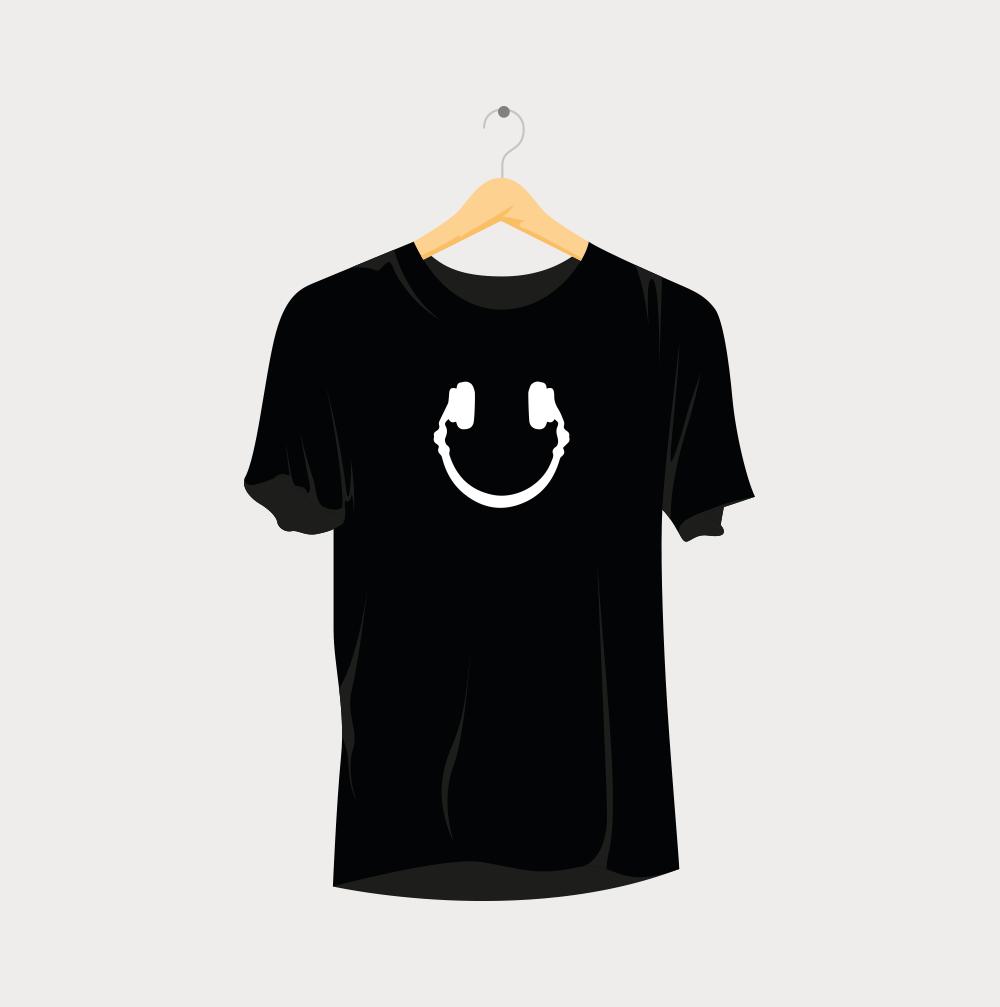 Smiling Headphones Rave T-Shirt