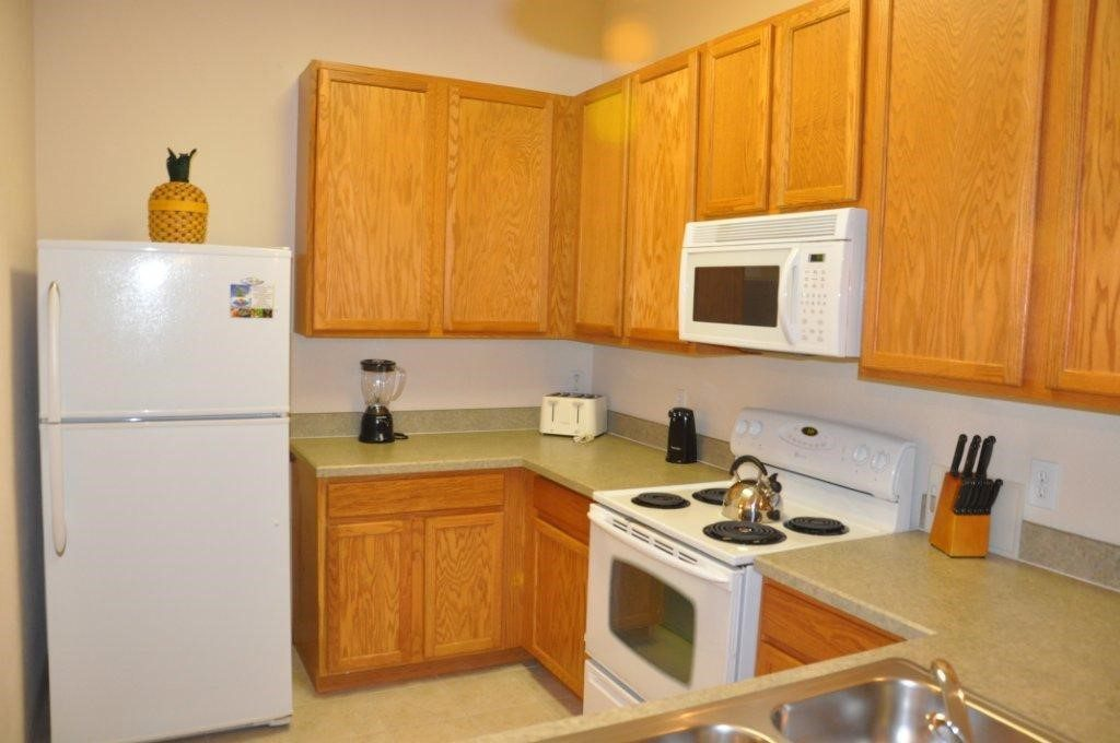 Condo kitchen at Bahama Bay Resort Orlando Florida