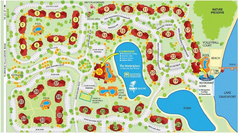 Map Of Bahama Bay Resort And Spa