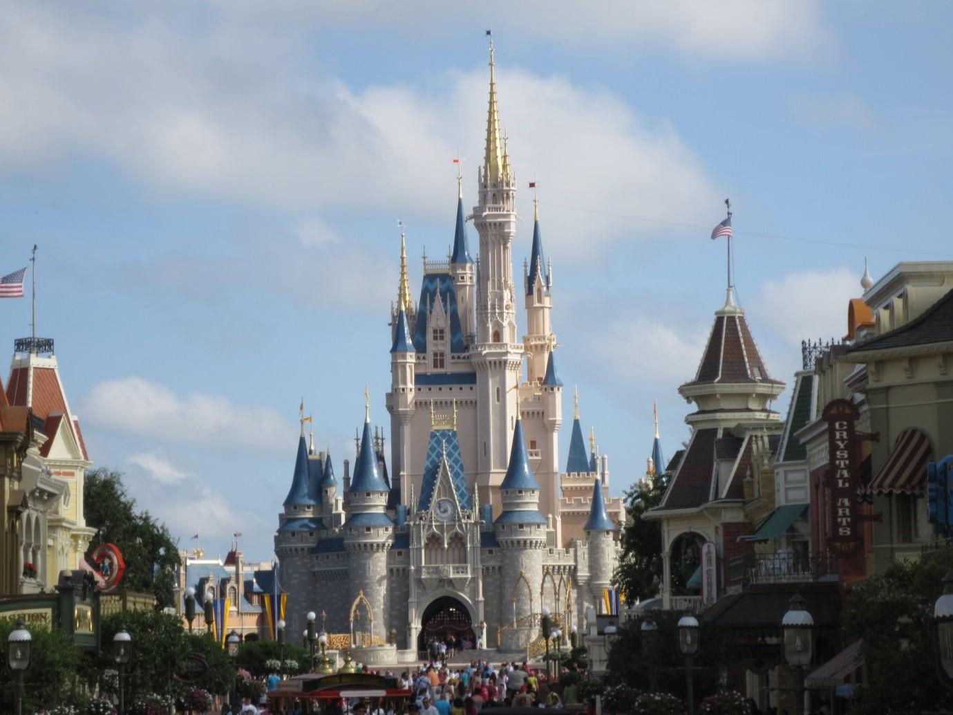 Disney Castle at Magic Kingdom, Disney World, Orlando, Florida