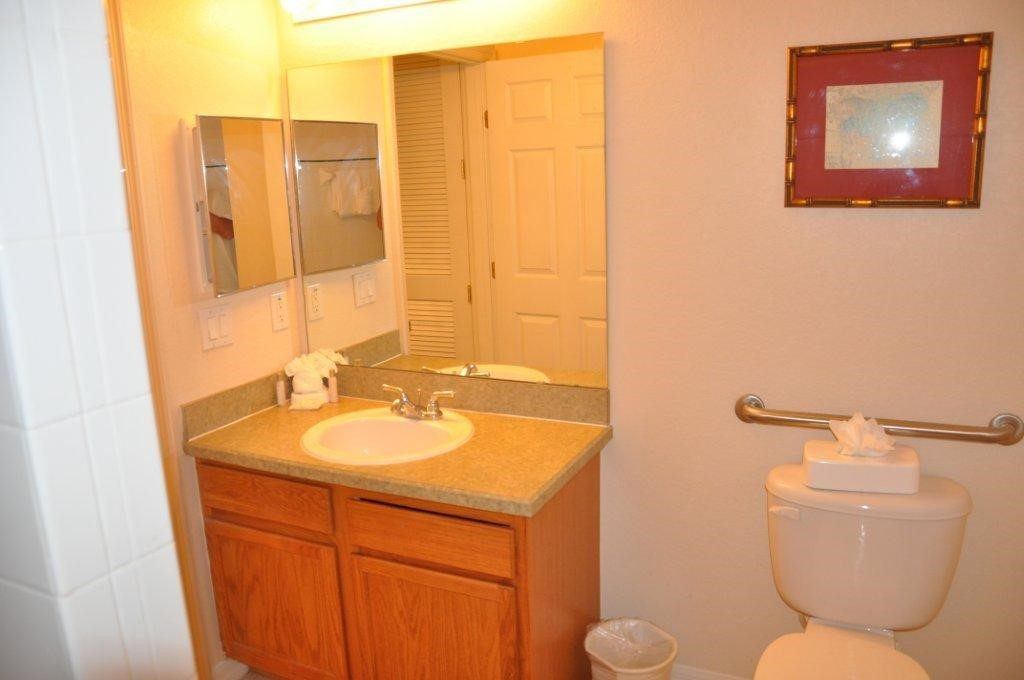 Condo family bathroom at Bahama Bay Resort Orlando Florida