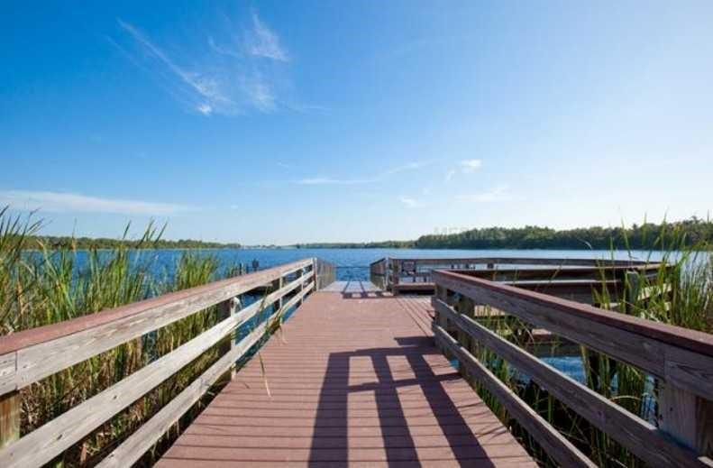 Fishing Dock at Bahama Bay Resort & Spa Orlando Florida