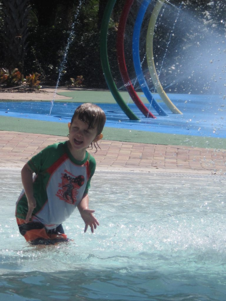 Kids having fun in pool at Bahama Bay Resort & Spa Orlando Florida