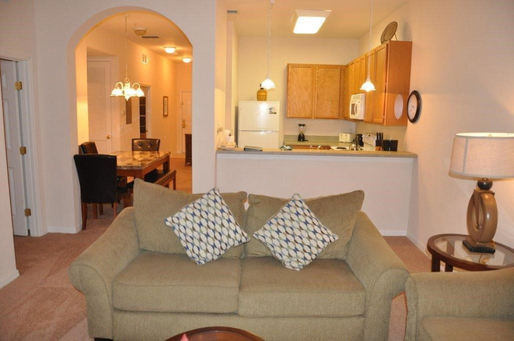 Condo lounge at Bahama Bay Resort Orlando Florida
