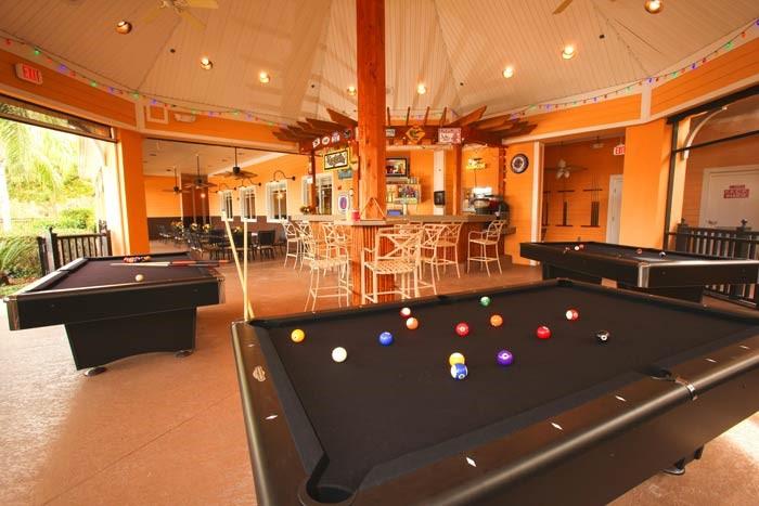 Pool tables in bar at Bahama Bay Resort & Spa Orlando Florida