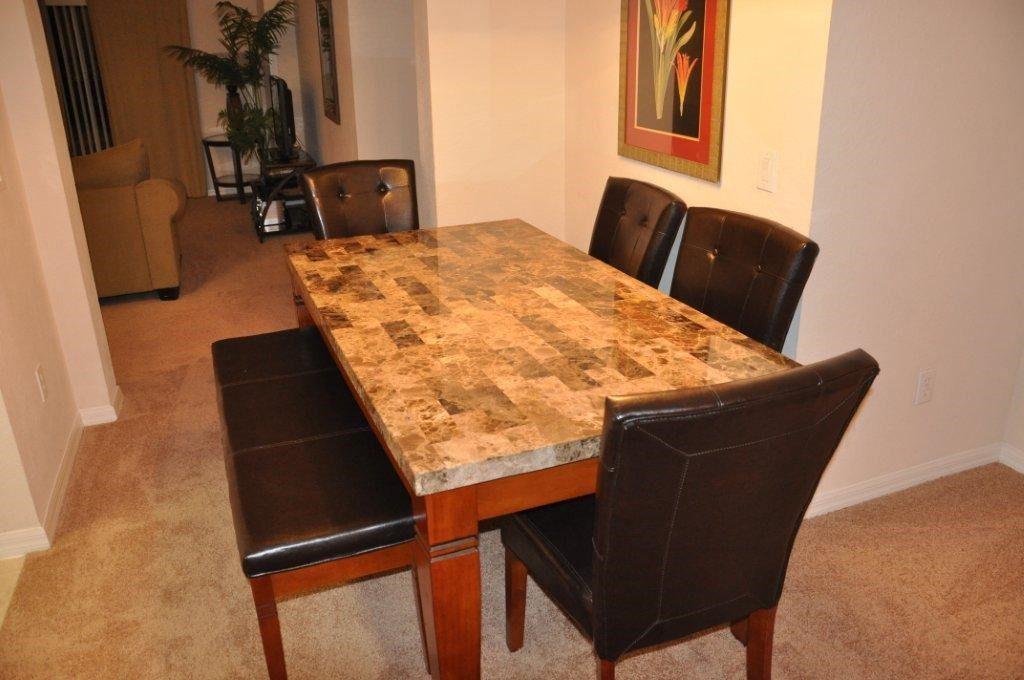 Condo dining table at Bahama Bay Resort Orlando Florida