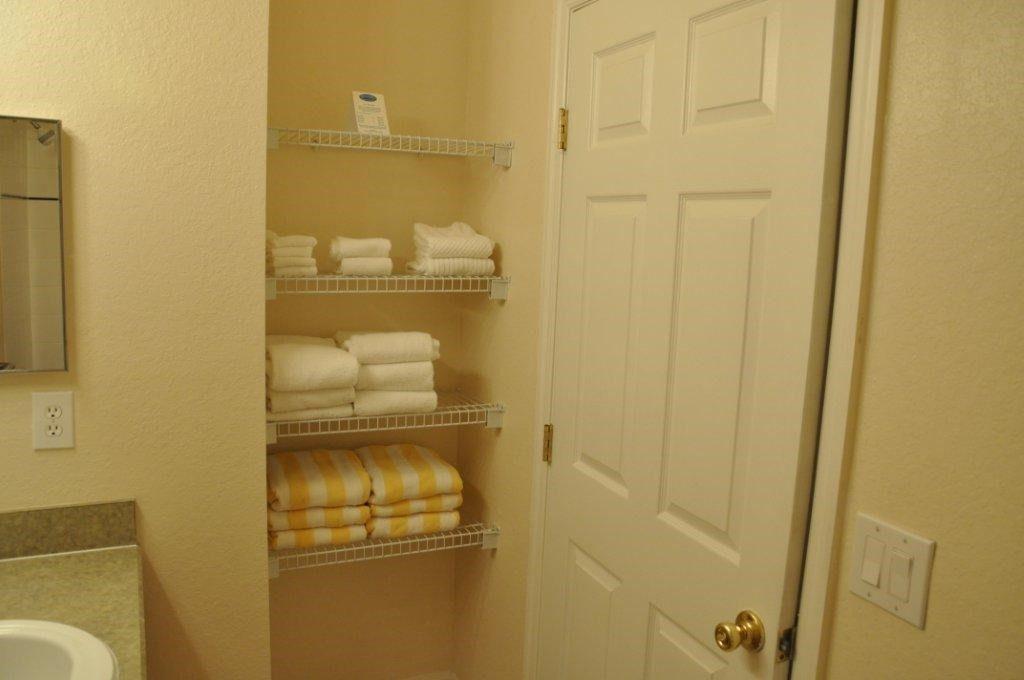 Towels for the bath and the pool at Bahama Bay Resort Orlando Florida
