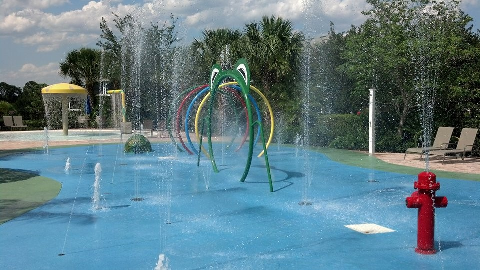 Kids splash pad at Bahama Bay Resort & Spa Orlando Florida