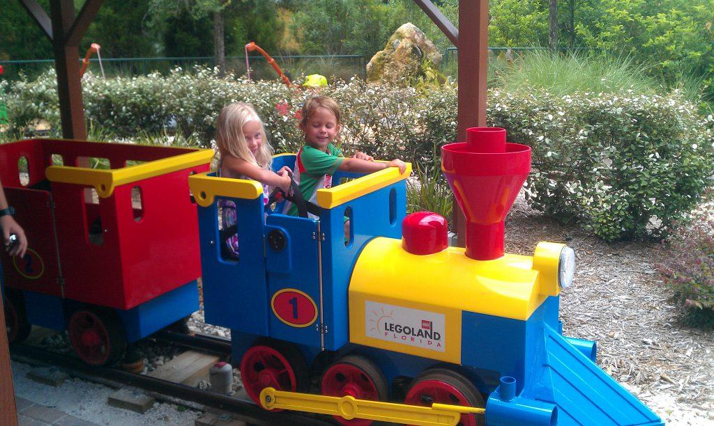 Kids having fun at Legoland Florida