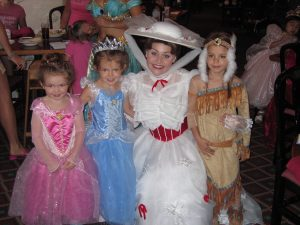 Kids with Mary Poppins at Walt Disney World Orlando