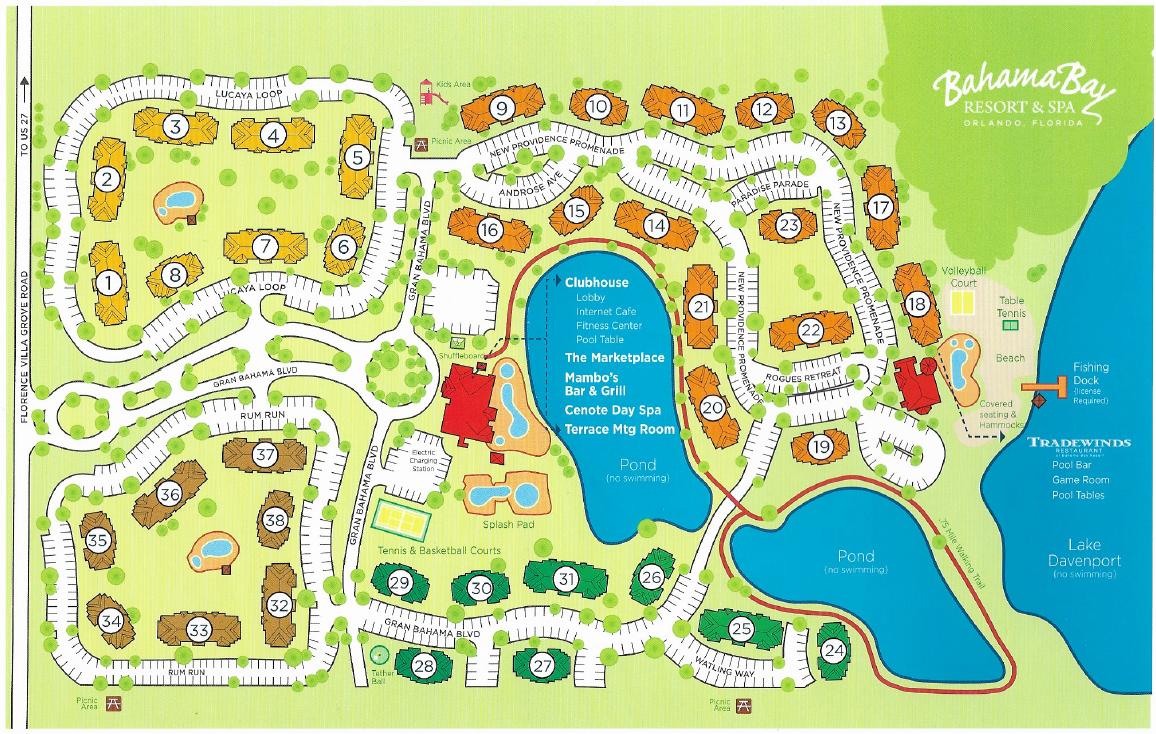 Bahama Bay Resort Map