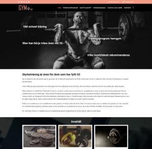 GYM50.se WordPress hemsida