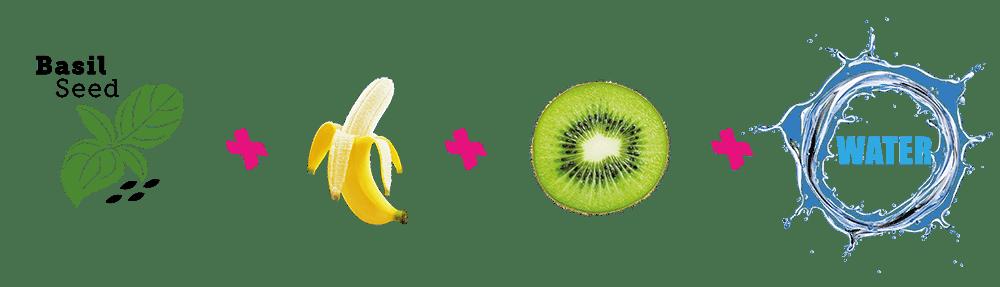 ingrediënten kiwi banaan