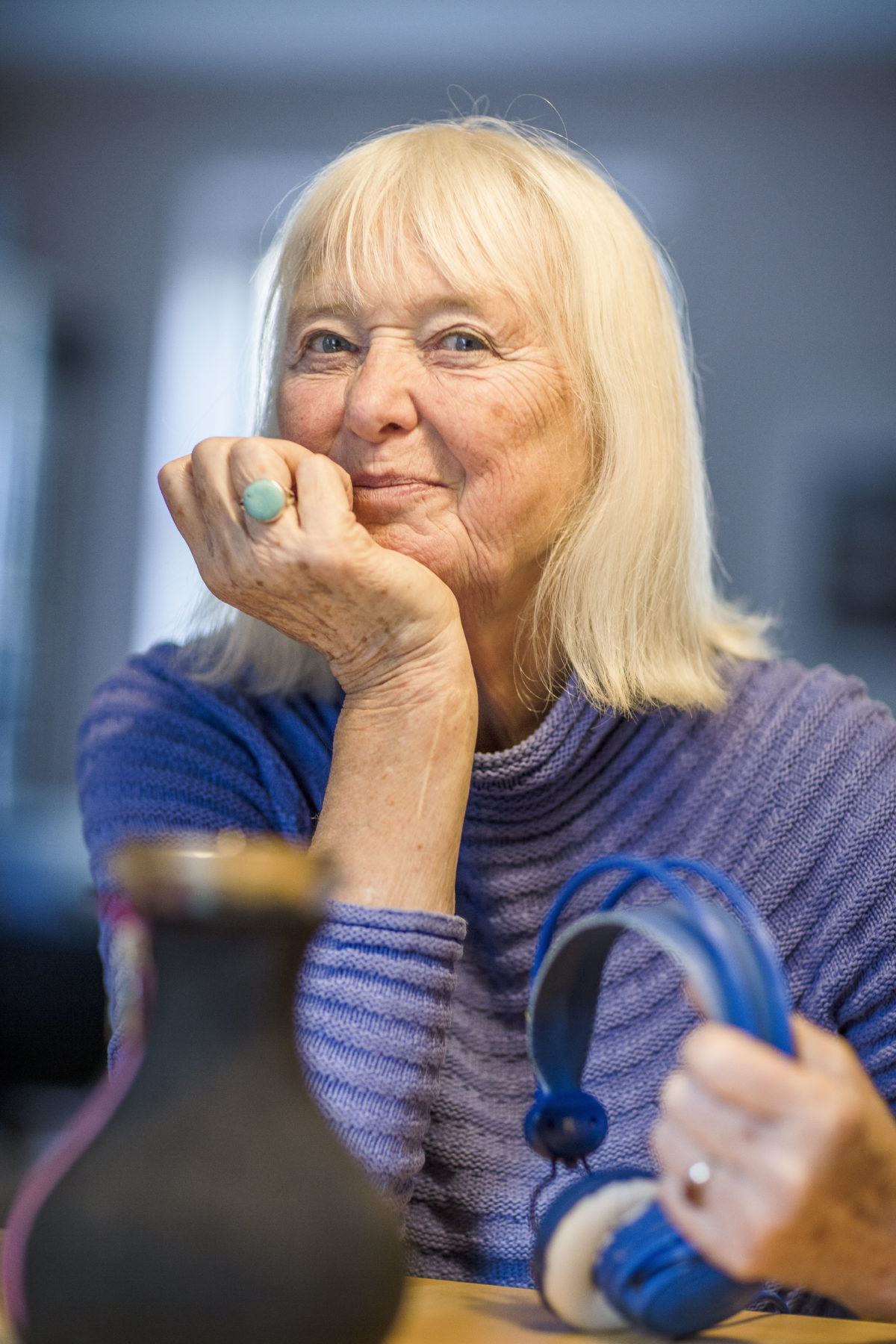 GUNVOR BJERRE, 77 år, journalist og podcaster