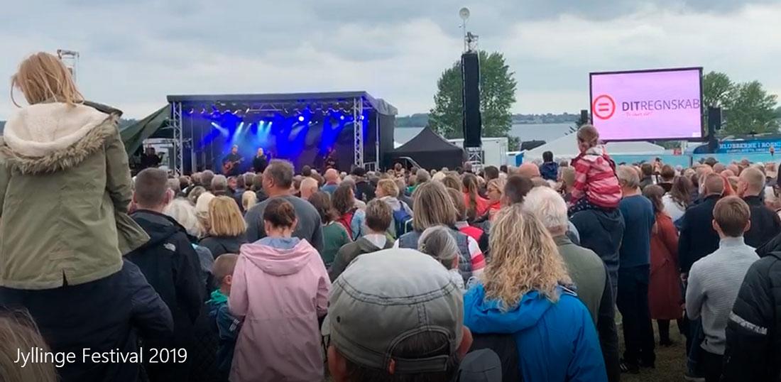 Dit Regnskab var igen i år sponsor ved Jyllinge Festival