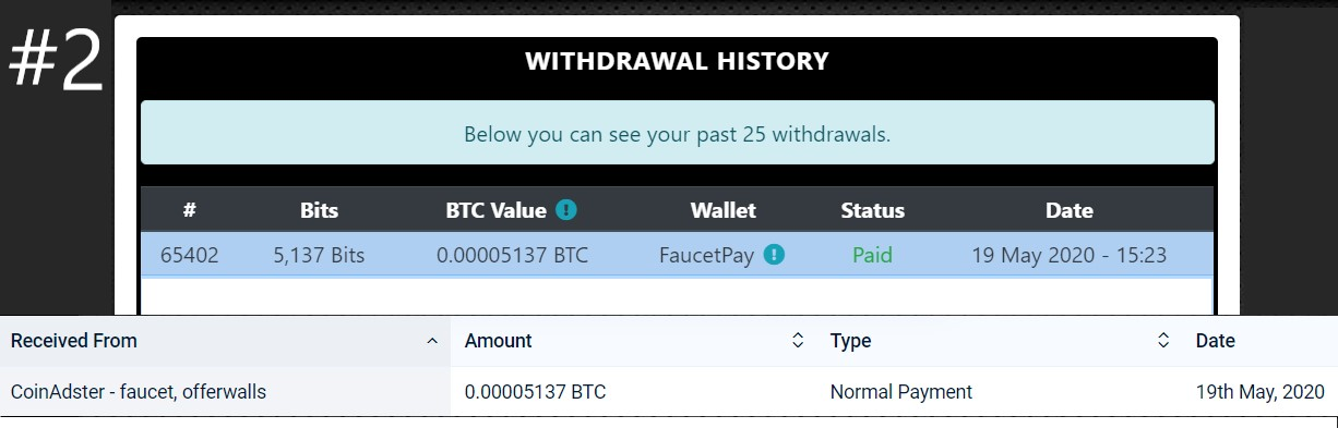 pagamento coinadster