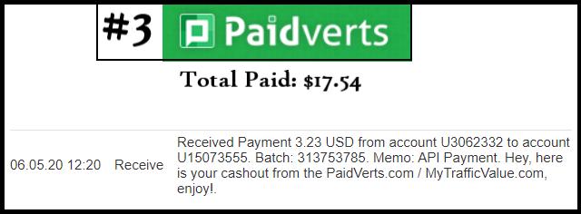 paidverts pagamento