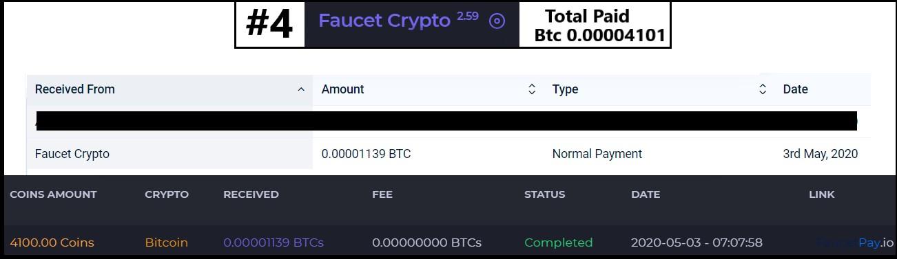 faucetcrypto pagamento