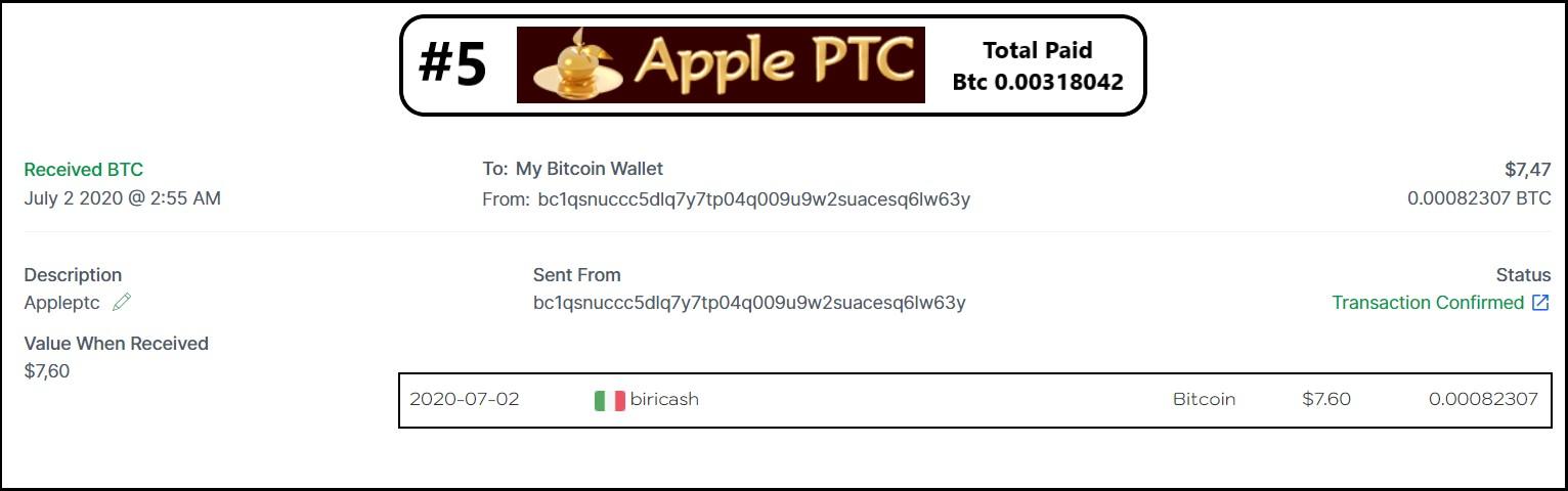 pagamento appleptc