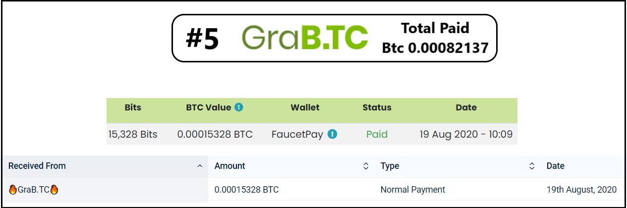 pagamento grabtc