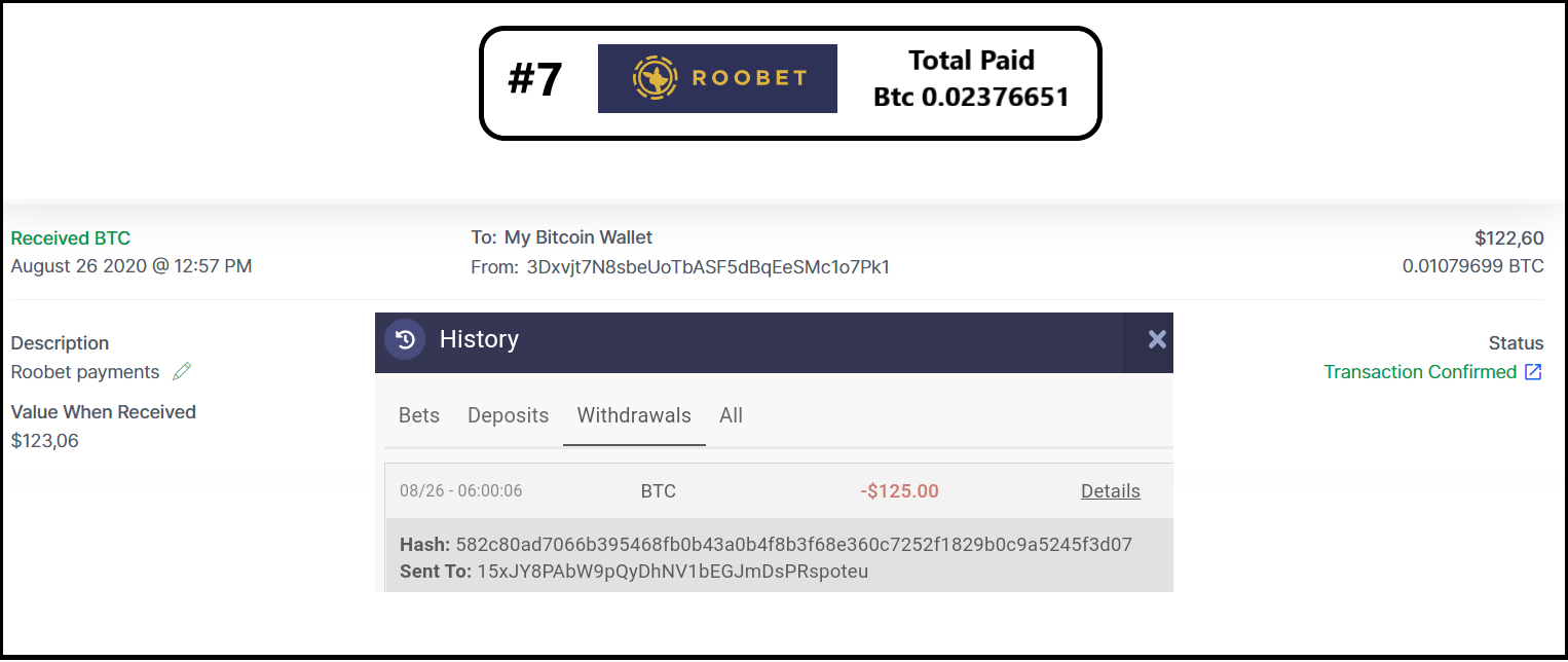 pagamento roobet