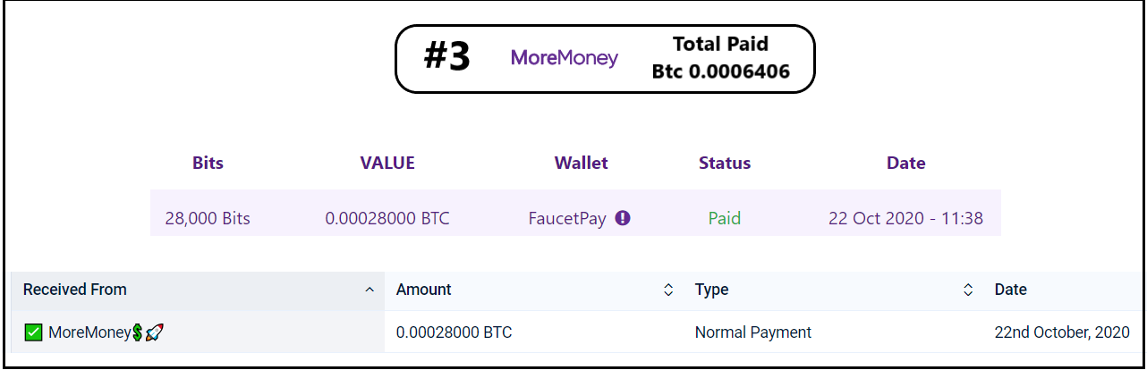 pagamento moremoney