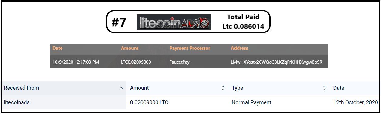 pagamento litecoinads