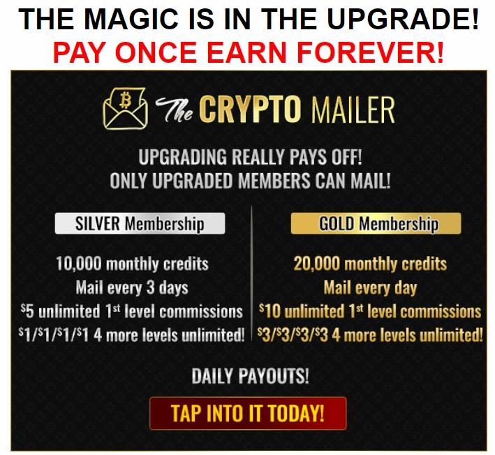 the crypto mailer upgrade details