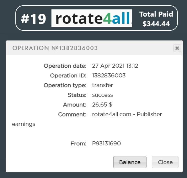 pagamento rotate4all