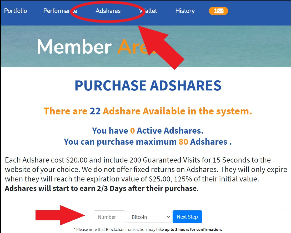 CrystalClearFund acquisto AdShare