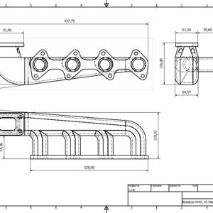 BMW m40/m43 Turbo Manifold Dimensions