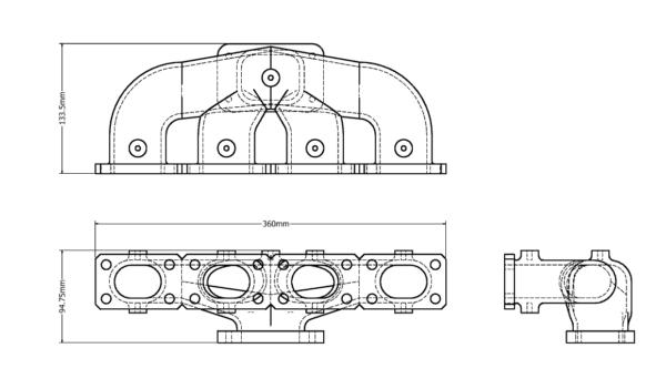 BMW M42_44 Collector/Header Manifold