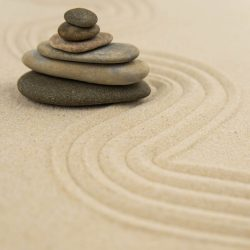 Zen,Sand,Garden,Meditation,Stone,Background,With,Copy,Space.,Stones