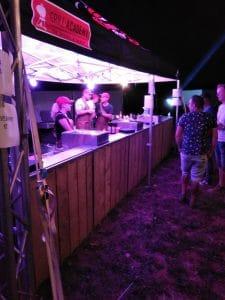 Balie voor catering festival
