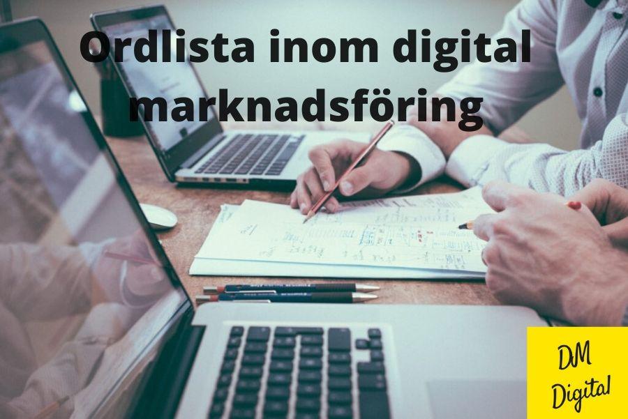 Ordlista inom digital marknadsföring